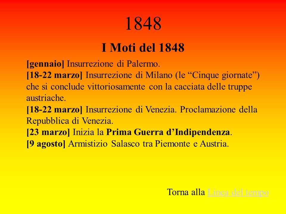 1848 I Moti del 1848 [gennaio] Insurrezione di Palermo.